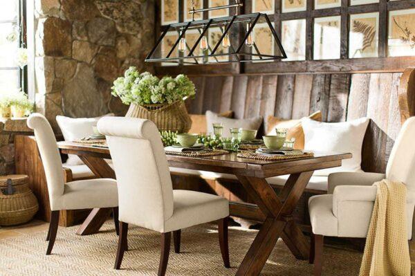 Crie uma sala de jantar festiva na casa de fazenda